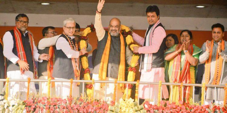 Amit Shah in Tripura
