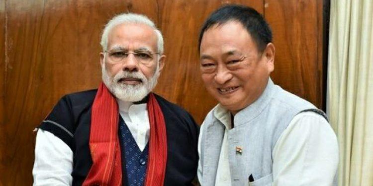 Arunachal PM Nonong Ering with Modi