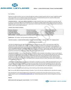 Ashol Leyland letter.