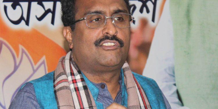 FIle photo of BJP national secretary Ram Madhav. Image: UB Photos