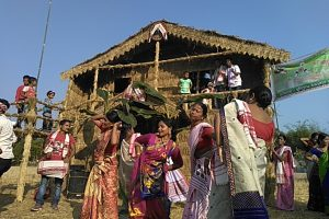 Bihu beats sways young and the old at Chaligram in Cachar district of Assam