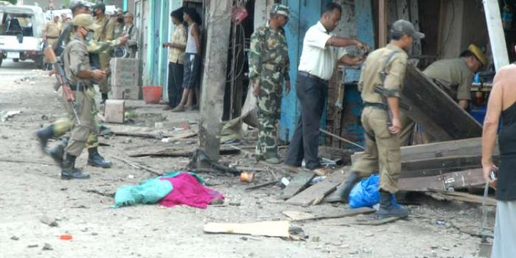 A blast site in Manipur. (File image)