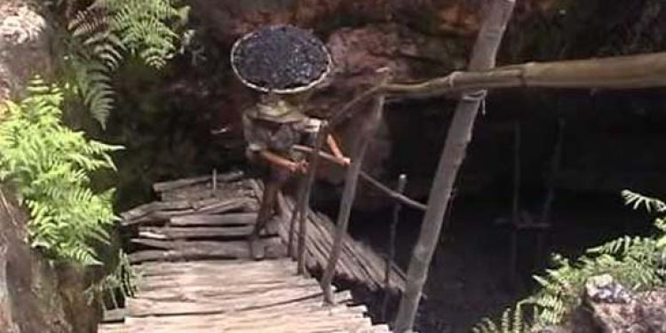 View of a coal mining site in Jaintia Hills of Meghalaya. Image credit - YouTube