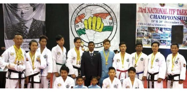 Taekwondo players