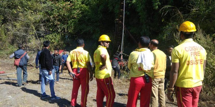 Odisha Fire Services personnel.