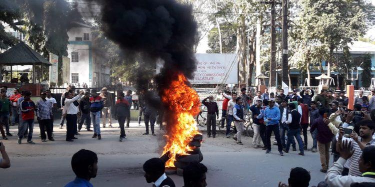 Assam: Dibrugarh BJP office vandalized; police use blank fire, 20 detained