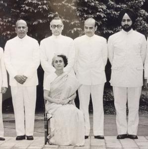 India Gandhi with Sikkim merger team