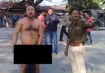 Jorhat's 'nude' protester now demands 'independence' of Assam 4