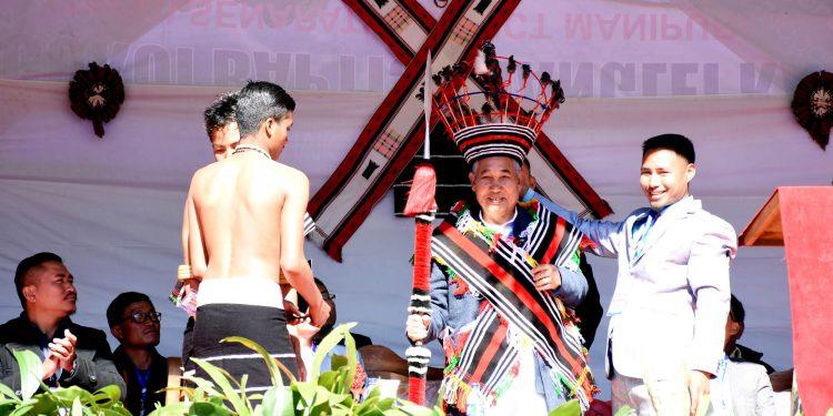 Manipur Deputy Chief Minister Yumnam Joykumar during inaugural function of 8th Sports Meet cum Dimki Session 2019 at Makuilongdi village in senapati district on saturday