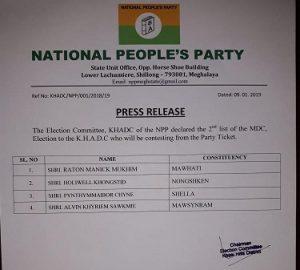 NPP list