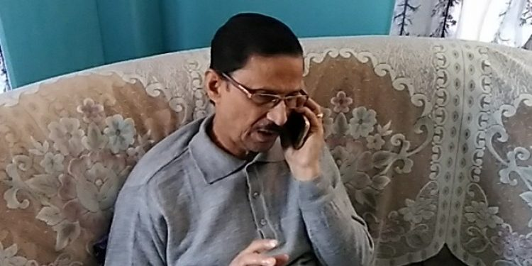 Pradip Dutta Roy, founder president of ACKHSA at his Silchar residence on Friday. Image: Northeast Now.