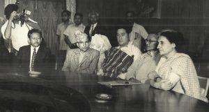 SNC delegation Indira Gandhi