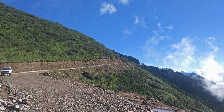 Haa-Samtse highway in Bhutan. Image credit: Business Bhutan.