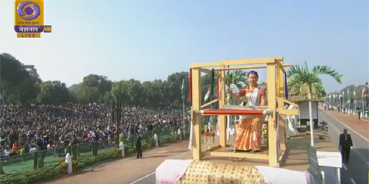 Assam tableau 'Sualkuchi' in all its glory at 70th Republic Day parade