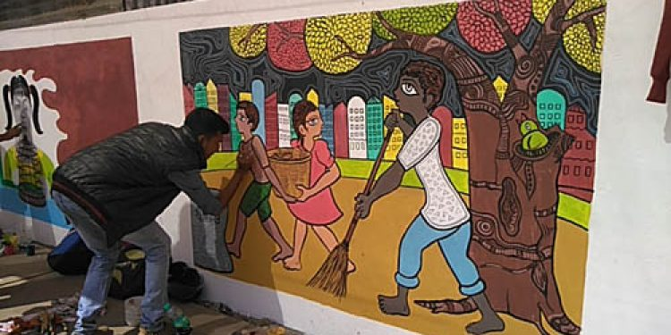 Silchar District & Sessions Court gets it wall painted of a different kind