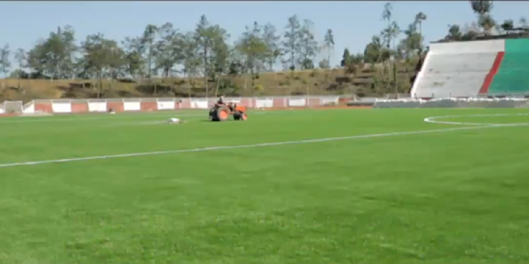 Astro-turf football ground in Kohima