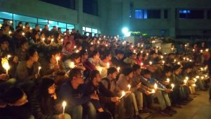 IIT-G researchers hold candle march seeking fellowship hike