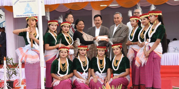 first prize winner Lianda Folk & Classical Academy Nagamapal Soram Leirak
