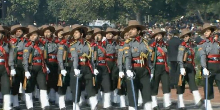 Assam Rifles all-women contingent make history at Republic Day parade