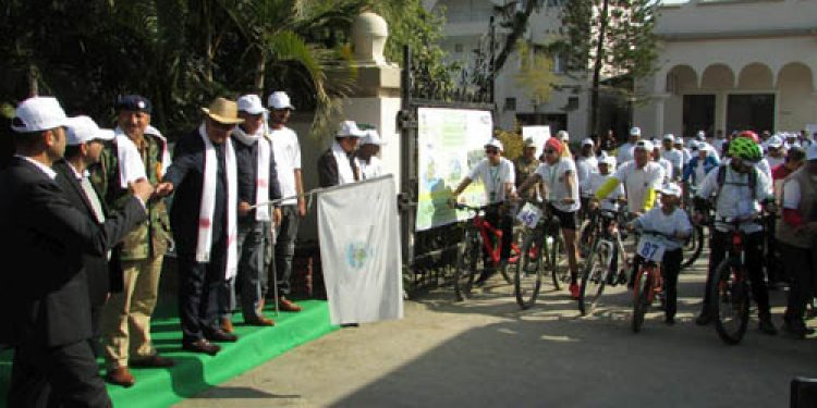 Cycle rally on conservation of fuel in Imphal