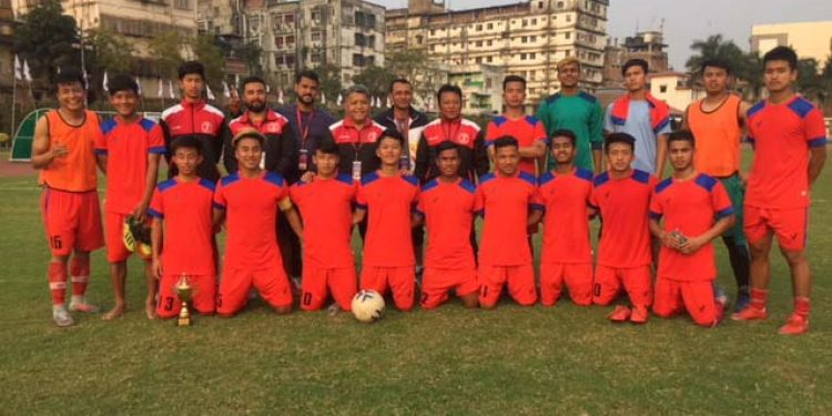 The Sikkim (U-21) football team. Image - Northeast Now