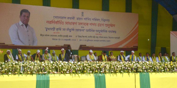 12-02-19 Dibrugarh- CM Sonowal Kachari sworn-in (7)