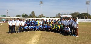 Kalain Eagles and Udharbond Transformers in frame with guests ahead of the inaugural match of Barak Premier League, Season - II