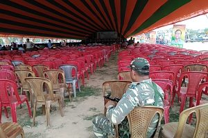 Many empty chairs were seen in a Shakti Kendra Sammelan of the BJP for the three Lok Sabha seats of Diphu, Karimganj & Silchar on Saturday