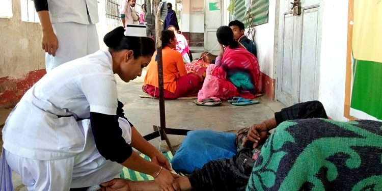 NURSES ATTENDING TO HOOCH VICTIMS AT CIVIL HOSPITAL IN GOLAGHAT