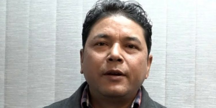 File image of NESO chairman Samuel B Jyrwa. Courtesy: Meghalaya Times