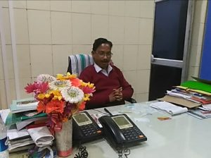 Station Superintendent, Biplab Das, at his official chamber on Monday clarifying his stand to Northeast Now