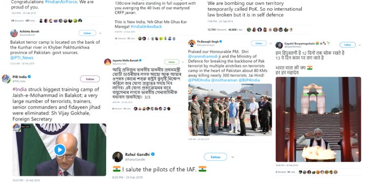 Twitter users in northeast shower praises on IAF's surgical strike 1