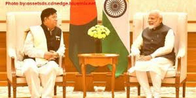 Prime Minister Narendra Modi with Bangladesh Foreign Affairs Minister AK Abdul Momen in New Delhi.