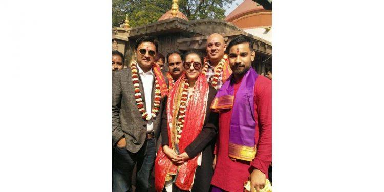 Actress Manisha Koirala visited Ma Kamakhaya Temple