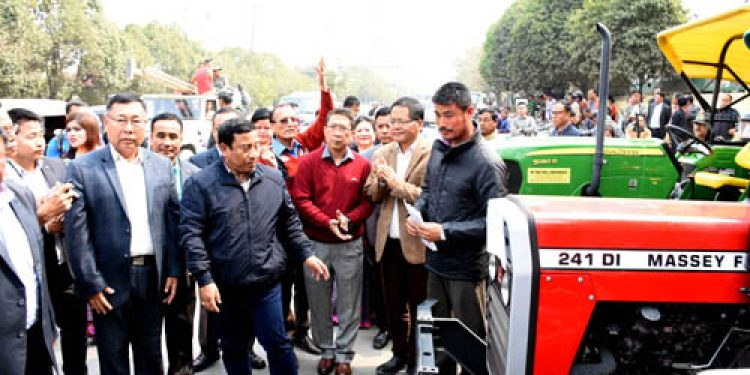 Tractors and power tillers distributed to Manipur farmers