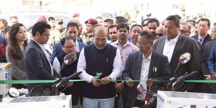 Manipur CM N Biren Singh launches mobile laboratory on bikes