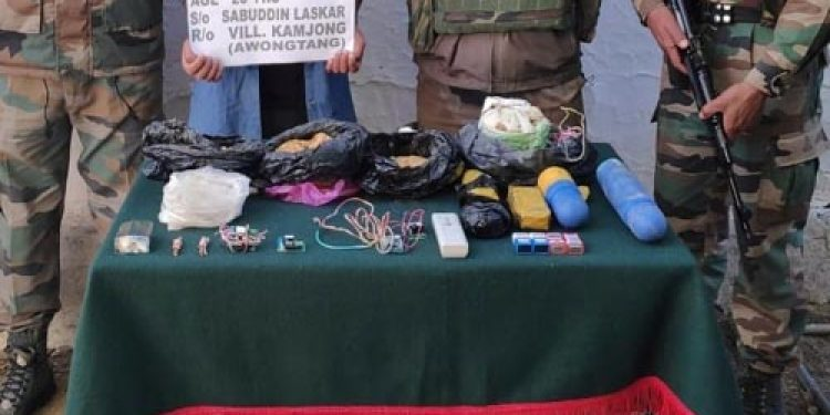 Assam Rifles apprehends individual with explosive materials in Manipur