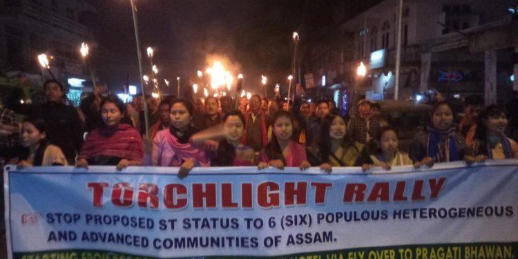 Torchlight rally
