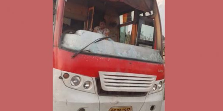 Bus from Assam attacked in AP