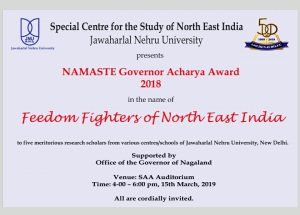 Nagaland: NAMASTE Governor Acharya Award for 5 JNU scholars 1