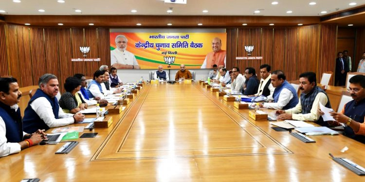BJP central committee election  meeting in New Delhi.  Image credit: UB Photos