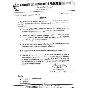 NDPP's advisory