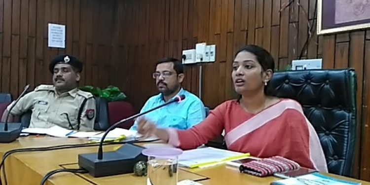 Cachar DC Laya Madduri addressing media persons in Silchar. (file image)