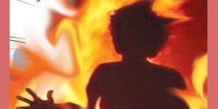 Woman set on fire
