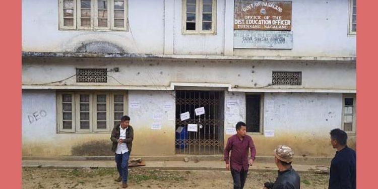 Students lock office