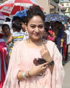 Actors and politicians cast vote in Guwahati on Phase III of LS Elections 2