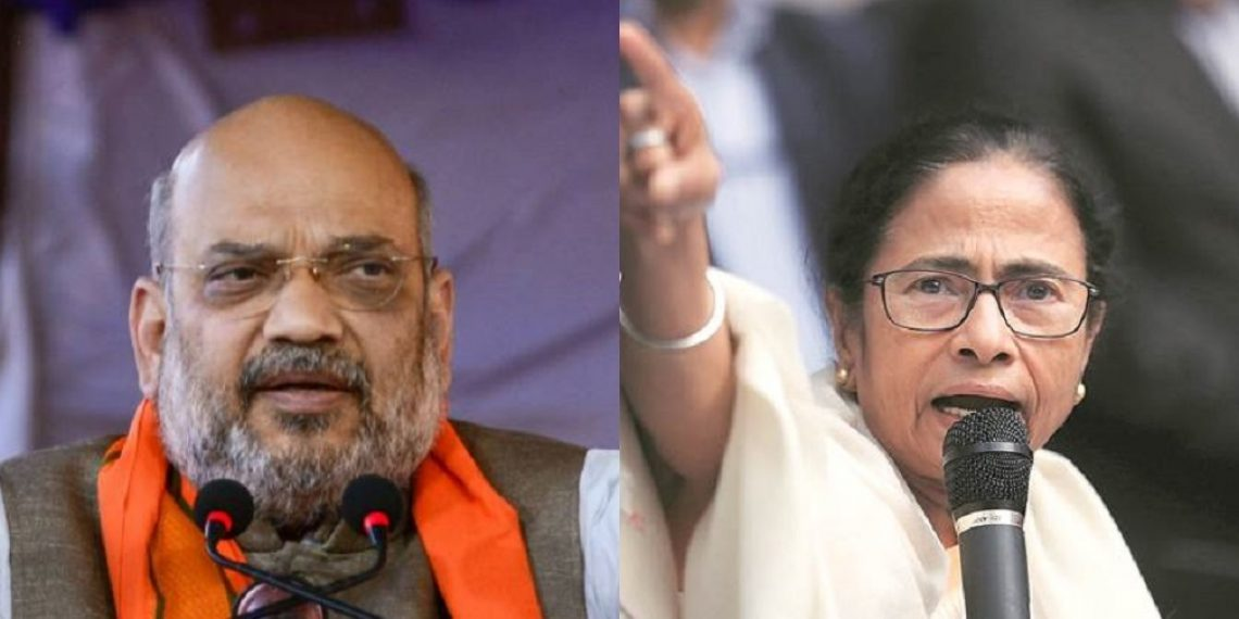 Image result for mamata and amit shah