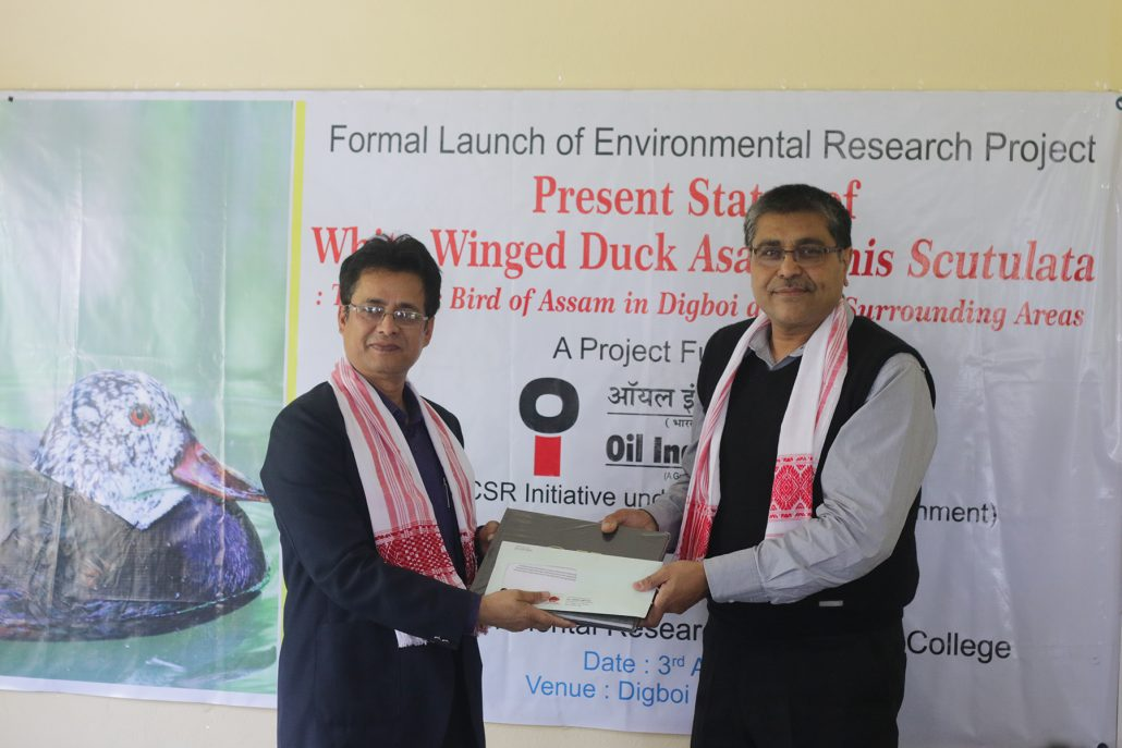 OIL launches research project for White Winged Duck conservation 1