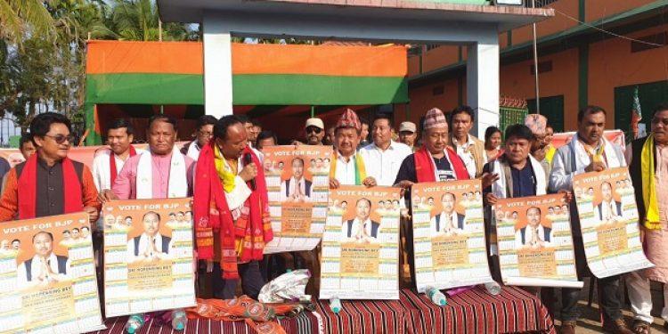 BJP campaigning at Tumpreng