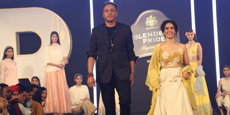 Designer Varun Bahl and showstopper Sanya Malhotra at Blenders Pride Magical Nights 2019 in Guwahati